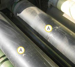 Limpe com acetona utilizando um EPI adequado