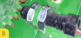 Sensor de separação do envoltório (Fig. C & D) em mau funcionamento.