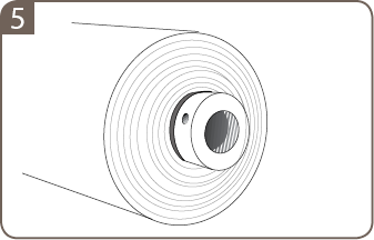 A extensão deve segurar firmemente o núcleo (Fig. 5).